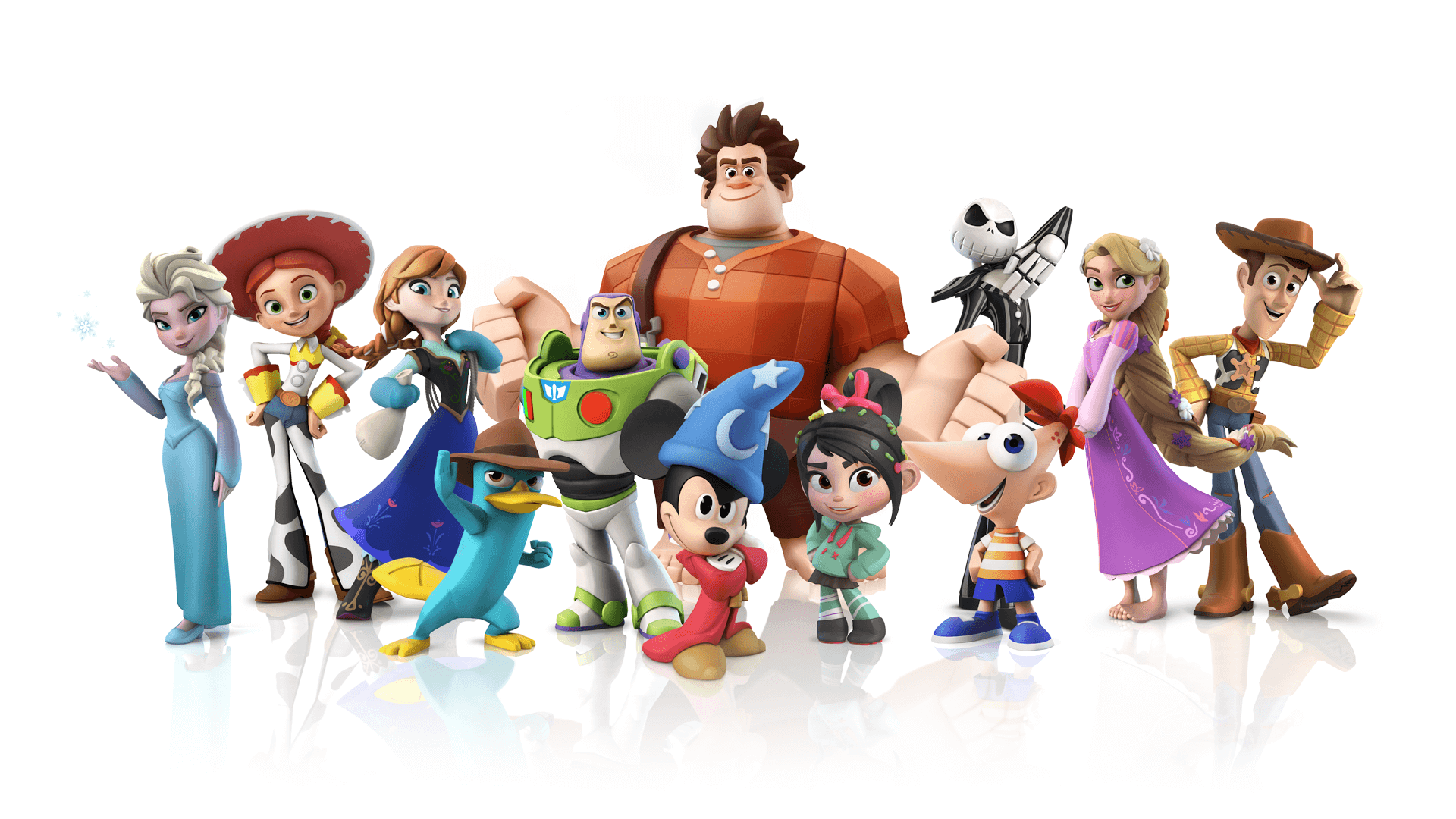 New Disney Infinity characters, playset, virtual Disneyland at 2013 D23  Expo with Toy Story, Rapunzel, Jack Skellington | Inside the Magic